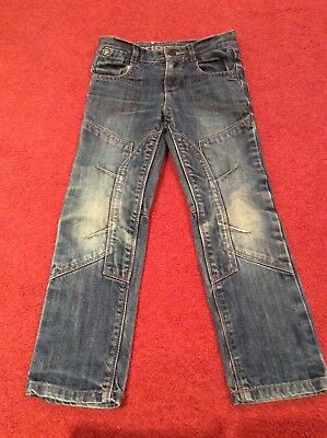Little boys blue denim jeans from Vertbaudet age 6 years