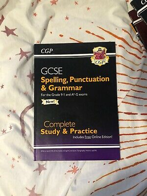 Spelling, Punctuation and Grammar for Grade 9-1 GCSE Complete by CGP Books New