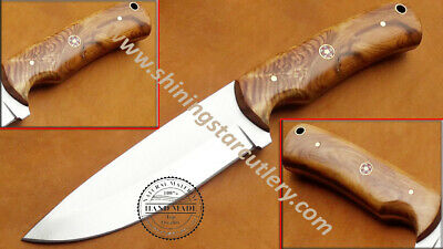 Custom hand made3/8x9  D2 Tool  Steel Skinner  Hunting Knife With Leather Sheath