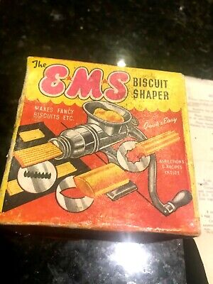 EMS Biscuit Shaper-E M Steven South Australia-1940s Boxed-With Instructions+