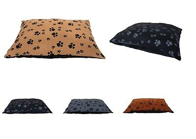 Extra Large Dog Bed Cushion Washable Printed Fleece Cover Luxury Soft & Warm