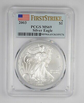 MS69 2003 American Silver Eagle - First Strike - Graded PCGS *093