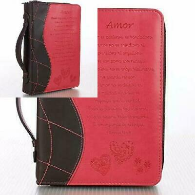 Pink /«Amor/» Bible // Book Cover 1 Corinthians 13:4-8 Large Spanish Edition