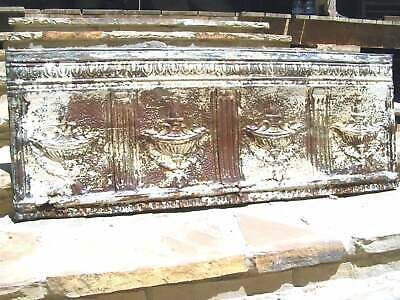 Antique 1800's Victorian Ceiling Tin Wall tile Scalloped Urn design 0578