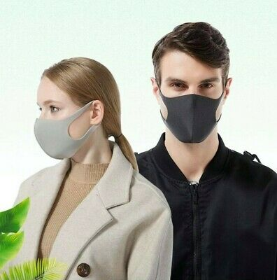 AU STOCK Adult Breathable Washable Anti Flu Spit Face Cover Mouth Nose Cover AUS