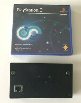Official Original Sony Network Adapter for PS2 Playstation 2 WITH ACCESS DISC