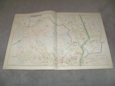 1882 Map Part of Rahway New Jersey J E Robinson & R H Pidgeon A H Mueller
