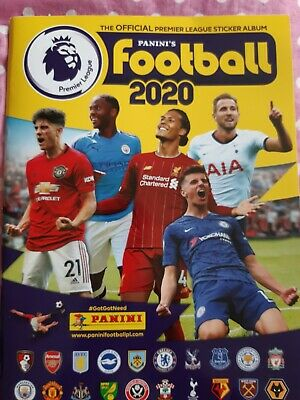 Panini Football 2020 Sticker Album Official Premier League - Used approx 15