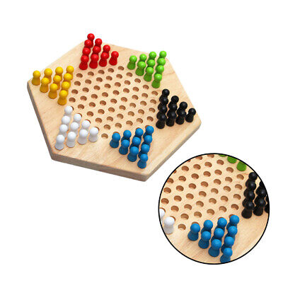 Checkers Game Wooden Board Game Checkers Family Game Educational Toy for Kids
