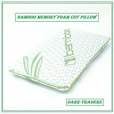 New Bamboo Memory Foam Cot Pillow Anti Bacterial With Organic Bamboo Cover
