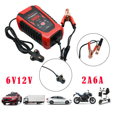 6Amp 12V 6V Automatic Smart Pulse Repair Motorcycle Car Battery Charger 2A NEW