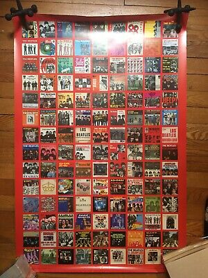 "The Beatles Official Apple Records 126 Picture Sleeve Poster Exc Large 24""X 32"""