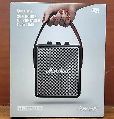 Marshall Stockwell II Portable Bluetooth Speaker with 20+ Hours of Battery Life