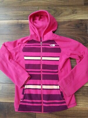 Girls North Face Pink fleece zip through hoodie hooded top 14-16 yrs