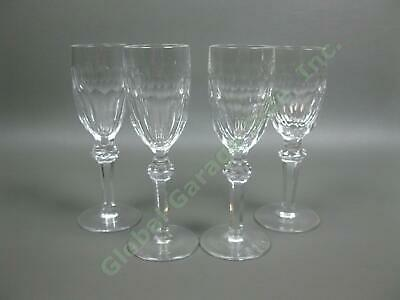 4 Waterford Crystal Curraghmore Sherry Wine Glasses Ireland Blown Cut Glass Set