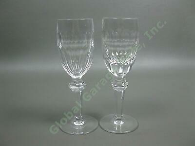 2 Waterford Crystal Curraghmore Sherry Wine Glasses Ireland Blown Cut Glass Set