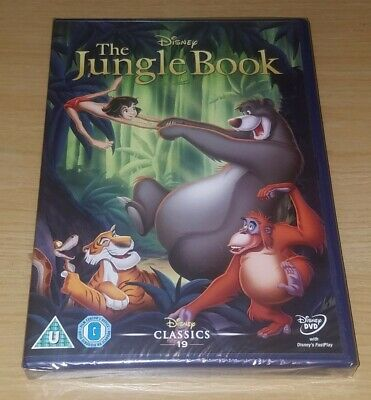 The Jungle Book ( Disney DVD ) 19th Animated Classic ( New & Sealed )