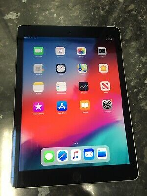 "Apple iPad Air 2 A1567 Retina Display 16GB WiFi/Cellular 9.7"" Grey+Touch iD Good"