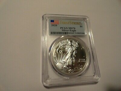 PCGS MS70 - FIRST Strike - Silver American Eagle - Dated 2020