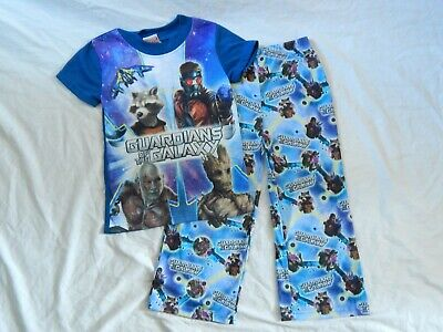 Guardians of the Galaxy 2pc Pajamas Starlord Purple Marvel Comics Boys Size 4