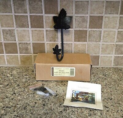 Longaberger Wrought Iron Maple Leaf Wall Hook New in Box
