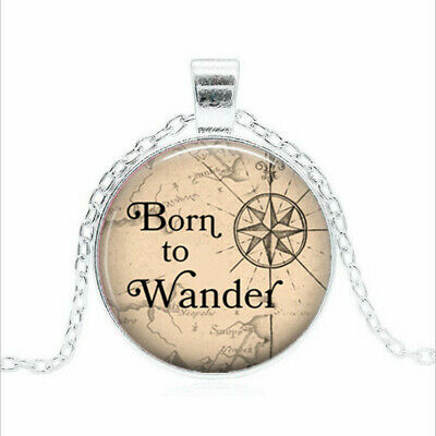 Born to Wander Tibet silver Glass dome Necklace chain Pendant Wholesale