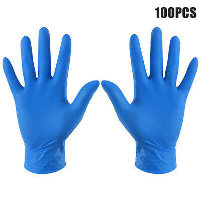 100X Disposable Latex Gloves Food Grade Restaurant Dishes Washing Safety Unisex