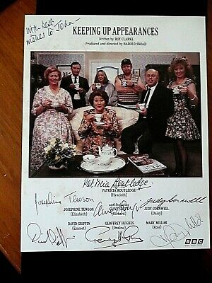 Keeping Up Appearances Cast Genuine Autograph From Estate Collector Collection.