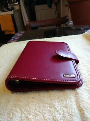Maroon Red Day One Planner Organizer 10 X 7 leather