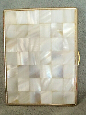 Vintage Mother Of Pearl & Metal Cigarette Case