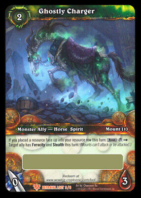 Ghostly Charger Loot Card World of Warcraft Ghastly Skull Mount WoW TCG Spectral