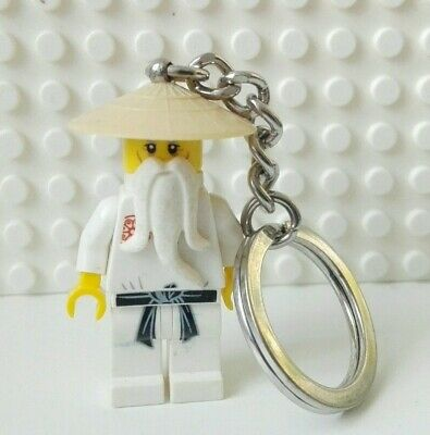 Lego Ninjago Movie Master Sensei Wu Keyring Minifigure KeyChain Mini Figure