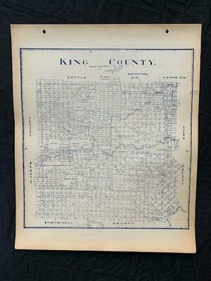 Rare 1905 King County Old Texas Guthrie Antique Vintage