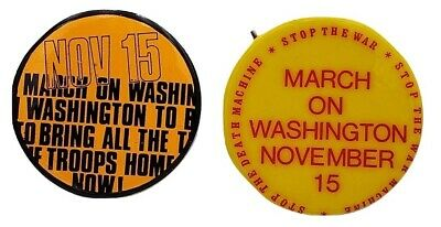 1969 March on Washington Stop The Vietnam War Buttons