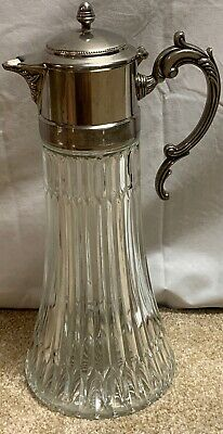 FB Rogers Silverplate Antique Water Claret Wine Decanter Carafe Made in Italy