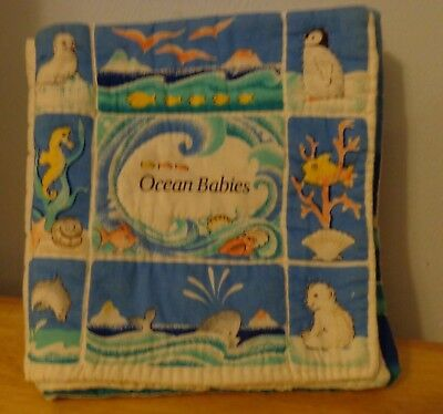 """Infant/Toddler Quilted Soft Book """" Ocean Babies"""" Educational Toy  9 X 10  United"""