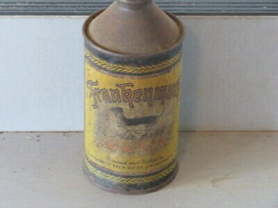 """Frankenmuth.  Beer. """"Airfree """" Version. Colorful.  Cone Top Michigan"""