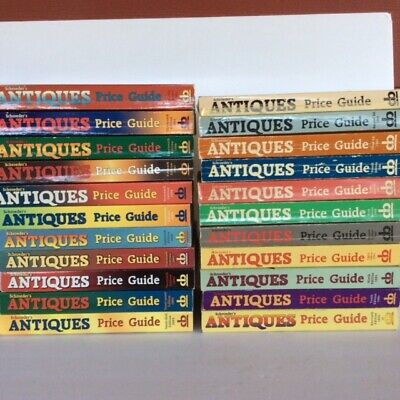 ~DUTCH AUCTION~ (z870) 22 early editions of Schroeder's Antiques Price Guides