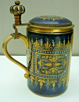 Royal Vienna Ackermann & Fritze porcelain 12cm Stein in perfect condition