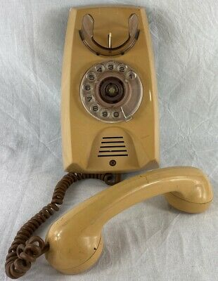 Vintage 80's Telecom Dial Wall Telephone Phone Retro Kitchenalia Future Antique