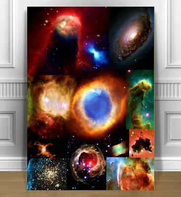 F339  Heart Nebula in Cassiopeia Constellation Space Art Silk Poster fabric24x36