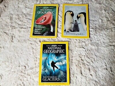 National Geographic Magazine Lot of 3 (mixed years)