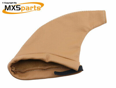 MX5 Handbrake Lever Gaiter Cover Tan Leather Mazda MX-5 Mk1 Mk2 Mk2.5 1989>2005
