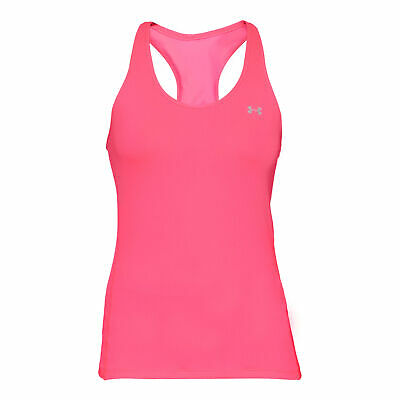 Under Armour Damen Heatgear Racer Tank  Tank-Top pink L NEU