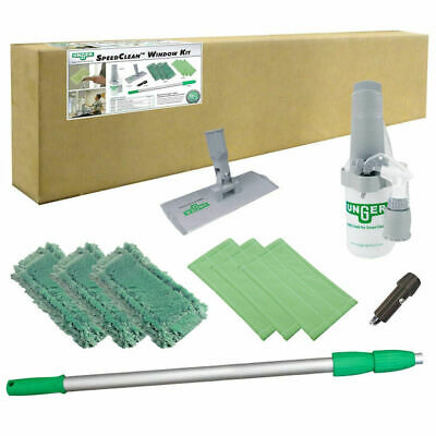 Unger CK053 10 Piece SpeedClean Window Cleaning Kit (New Damaged Box)
