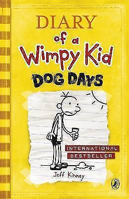 Diary of a Wimpy Kid: Dog Days (Book 4) by Jeff Kinney, Good Used Book (Paperbac