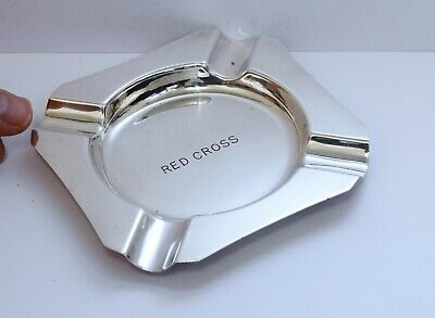 Rare Vintage 'RED CROSS' Silverplate EPNS Ashtray. Medical Organisation.