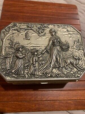 Stunning Old Silver Jewelly Box