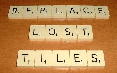 Scrabble Standard Replacements Tiles For Original Vintage & Deluxe 3 For £1