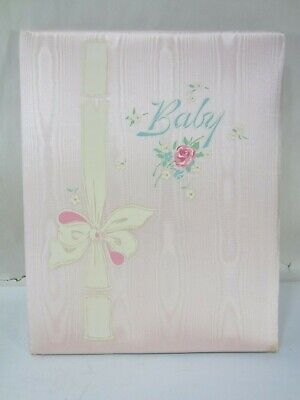 "Vintage Gibson Baby Record ""Our Own Baby"" Pink Padded Memory Book-Unused"